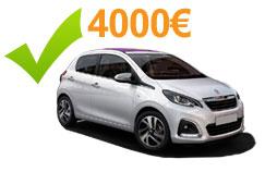 Voiture 4000 euros neuve